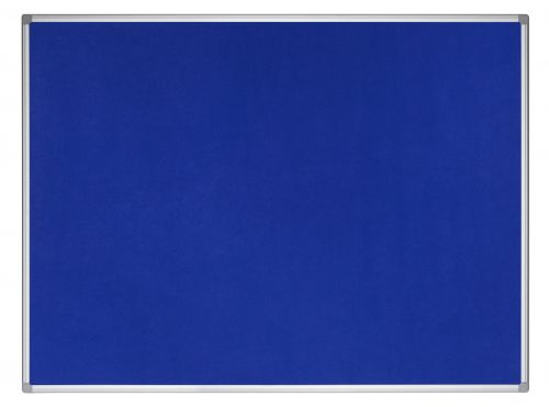 Earth-It Aluminium Frame Blue Felt Notice Board 1200x900mm