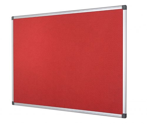 Bi-Office Aluminium Trim Felt Noticeboard 1200x900mm Red FA0546170 BQ35546