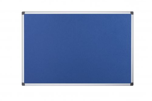 Langstane Felt Noticeboard Aluminium Frame 2400x1200mm Blue