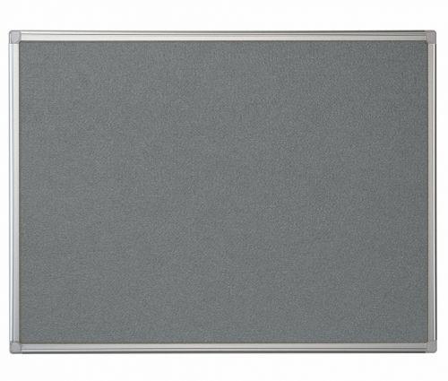 Bi-Office Maya Grey Felt Noticeboard Aluminium Frame 1200x1200mm