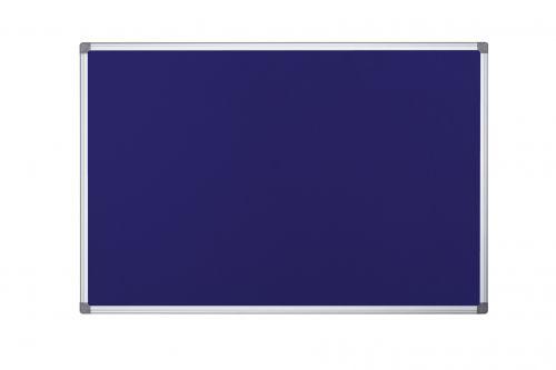 Bi-Office Maya Blue Felt Noticeboard Double Sided Aluminium Frame 900x900mm