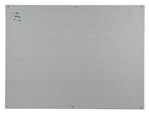 Bi-Office Unframed Grey Felt Notice Board 90x60cm