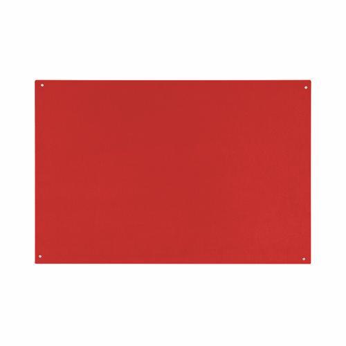 Bi-Office Red Felt Noticeboard Unframed 900x600mm
