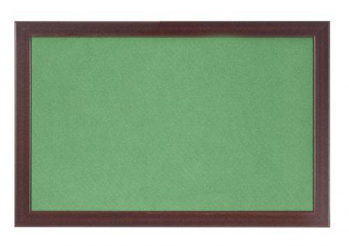 Bi-Office Earth-It Green Felt Noticeboard Cherry Wood Frame 1200x900mm