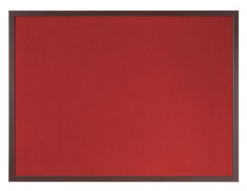 Bi-Office Earth-It Red Felt 120x90cm Cherry Wood 32 mm