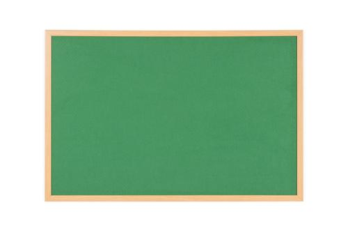 Bi-Office Earth-It Executive Green Felt Noticeboard Oak Wood Frame 1800x1200mm