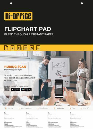 Bi-Office Flipchart Pad Plain A1 40 Sheets (Pack 5)
