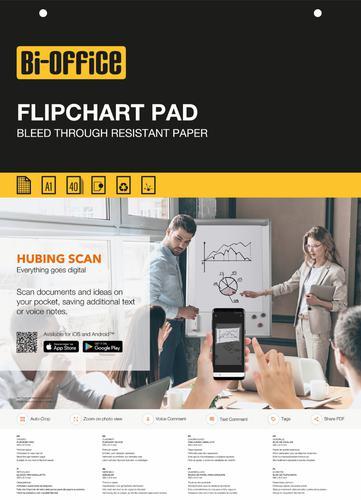 Bi-Office Gridded Flipchart Pad A1 40 Sheet (Pack of 5) FL0125201 Flipchart Pad BQ55301