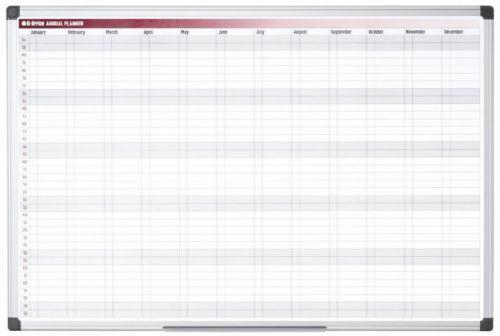 Bi-Office Magnetic 52-Week Annual Planner 90x60cm