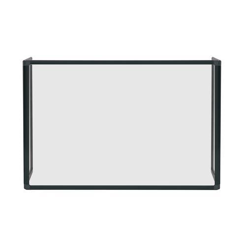 Bi-Office Trio Glass Board 900mm 1200x900Bk Alu Frm