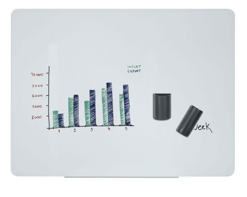 Bi-Office Magnetic Glass Memo Board 150x120cm