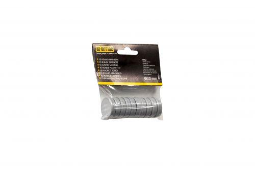 Bi-Office Round Magnets 30mm White PK10