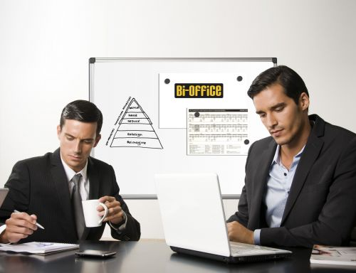 Bi-Office Maya Non-Magnetic Melamine Whiteboard 1500x1000mm MA1512170 BQ11151