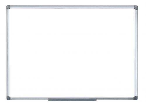 Langstane Magnetic Steel Drywipe Board (with pen tray) 2400x1200mm White MA2107170