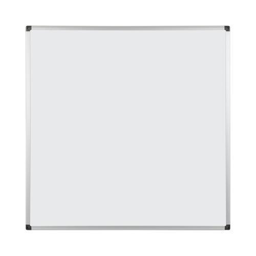 Bi-Office Maya Double Sided Magnetic Whiteboard Laquered Steel Aluminium Frame 900x900mm