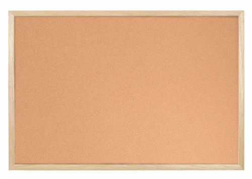 Bi-Office Cork Notice Board Wood Frame 400mm X 300mm
