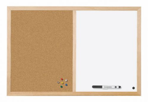 Bi-Office Cork and Drywipe Combination Board 600x400mm MX03001010 BQ23010