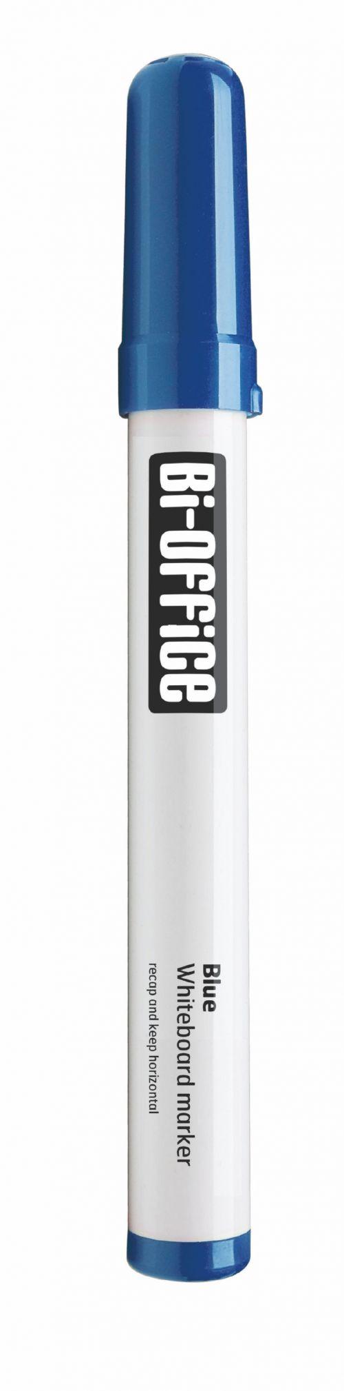 Bi-Office Dryerase Whiteboard Marker Bullet Tip Blue (Pack 10)