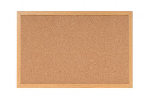 Bi-Office Earth-It Cork Noticeboard Oak Frame 120x90cm