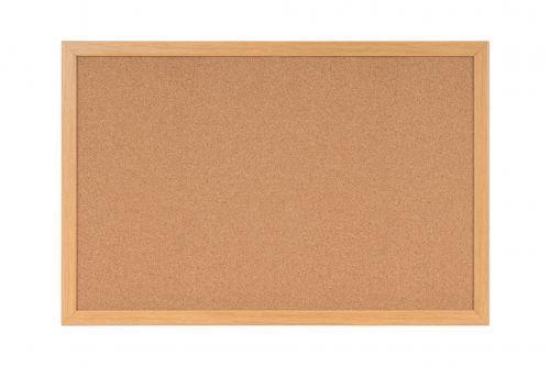 Bi-Office Earth Cork Noticeboard with Oak Finish Frame 1800x1200mm REC8501233