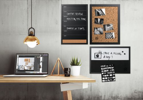 Bi-Office Black and White Message Personal Boards (Pack 3)