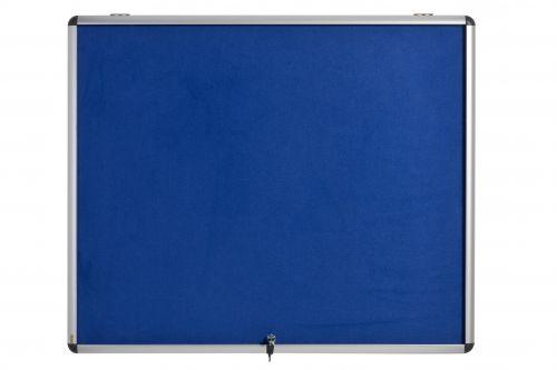 Bi-Office Blue Felt Lockable Ntcbrd 6xA4 700x653mm