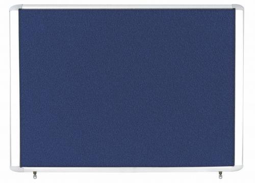 Bi-Office Weather Proof Display Case Blue Felt 8xA4