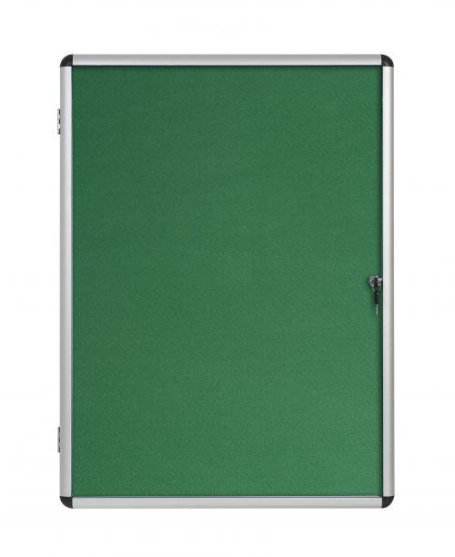 Bi-Office Enclore Green Felt Lockable Noticeboard Display Case 20 x A4 1160x1288mm