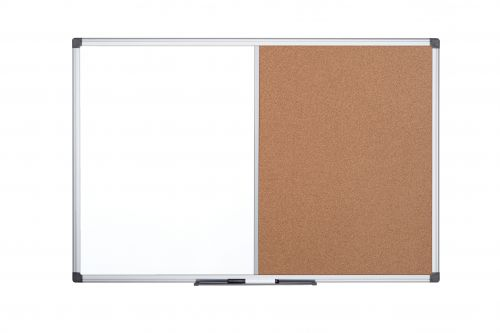 Bi-Office Maya Alu Frame Combo Board Cork/Magntic 90x60cm