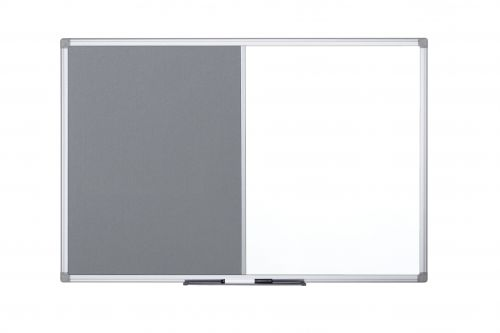 Bi-Office Maya Combo Aluminium Frame Board Grey 90x60cm