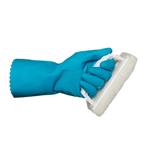 Rubber Gloves Blue Large 12 Pairs