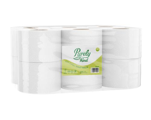 Purely Kind Toilet Roll 2ply Mini Jumbo 150m Pack 12