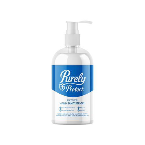 Purely Protect Hand Sanitiser 70% 500ml Pump Top