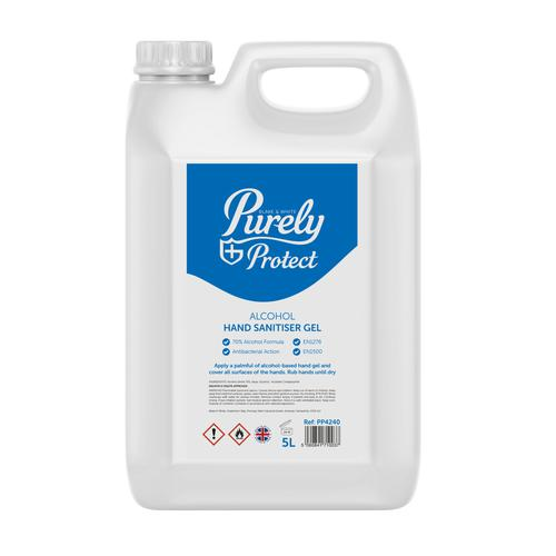 Purely Protect Hand Sanitiser 5 Litre (Pack 10) PP4240