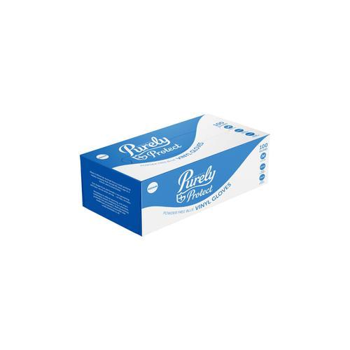 Vinyl Gloves Blue Medium Box of 100