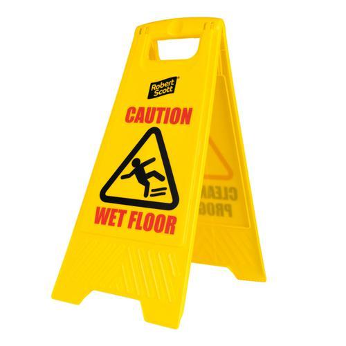Wet Floor Sign Free Standing 62x30cm