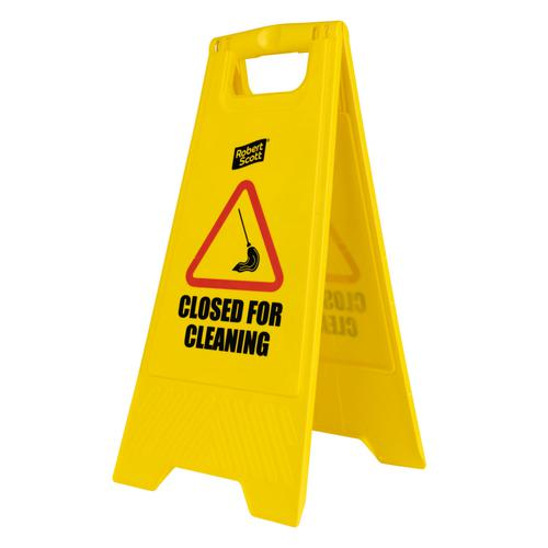 Closed for Cleaning Free Standing Sign