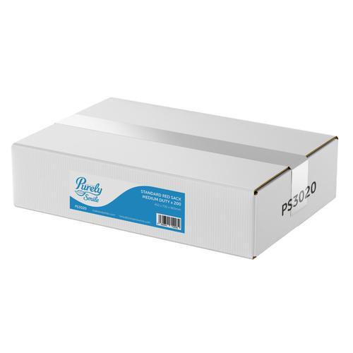 ValueX Medium Duty Refuse Sacks Red Pack 200 PS3020