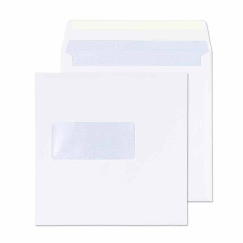 Blake Purely Everyday White Window Gummed Square Wallet 155x155mm 100gsm Pack 500 Code 0155W