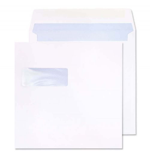 Blake Purely Everyday White Window Gummed Square Wallet 165x165mm 100gsm Pack 500 Code 0165W
