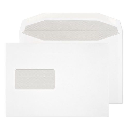 Blake Purely Everyday White Window Gummed Mailer 162x235mm 90gsm Pack 500 Code 019M