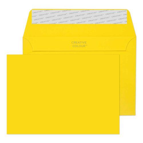 Blake Creative Colour Banana Yellow Peel and Seal Wallet C6 114x162mm 120gsm (Pack 500) Code 103
