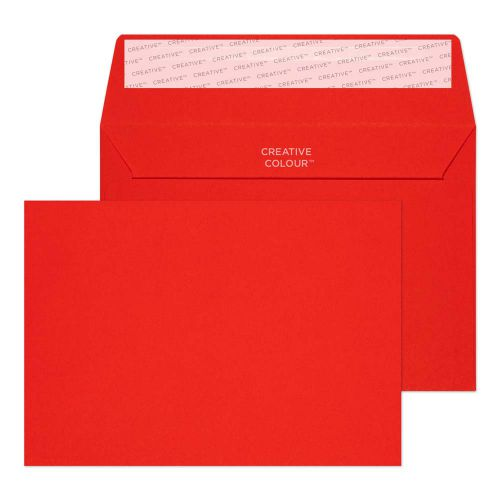 Blake Creative Colour Pillar Box Red Peel and Seal Wallet C6 114x162mm 120gsm (Pack 500) Code 106