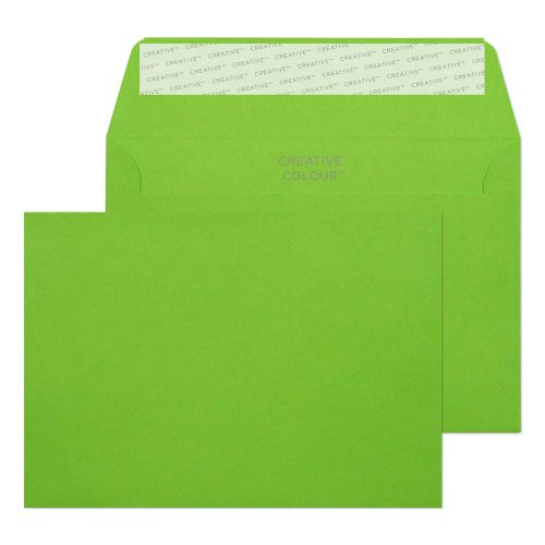 Blake Creative Colour Lime Green Peel and Seal Wallet C6 114x162mm 120gsm (Pack 500) Code 107