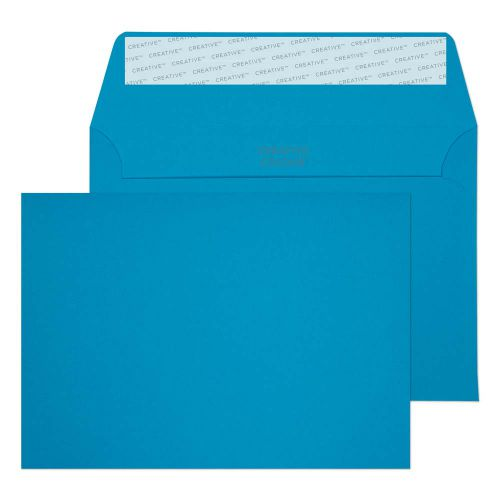 Blake Creative Colour Caribbean Blue Peel and Seal Wallet C6 114x162mm 120gsm (Pack 500) Code 110