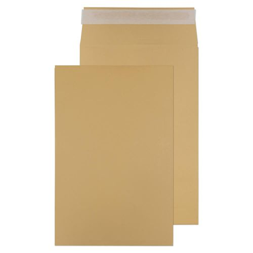 Blake Purely Packaging Pocket Gusset Envelope 381x254 Peel and Seal 25mm Gusset 140gsm Manilla (Pack 125)