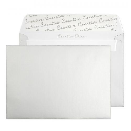 Blake Creative Shine Metallic Silver Peel and Seal Wallet C6 114x162mm 130gsm (Pack 500) Code 112