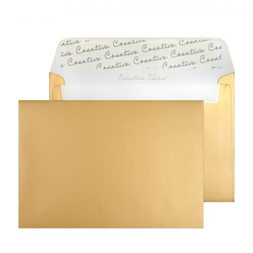 Blake Creative Shine Metallic Gold Peel and Seal Wallet C6 114x162mm 130gsm (Pack 500) Code 113