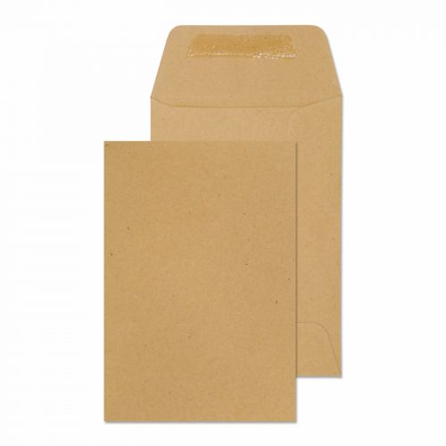 Purely Everyday Manilla Gummed Pocket 98x67mm Ref 119970 [Pack 1000] *10 Day Leadtime*