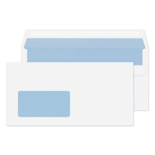 Blake Purely Everyday White Window Self Seal Wallet 110x220mm 75gsm Pack 1000 Code 12774